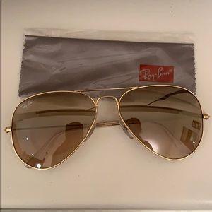 Ray Ban Aviator Light Brown Gradient gold frame